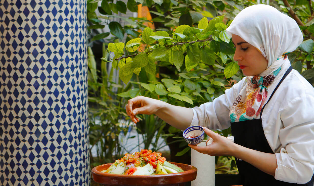 Cooking workshop vegetarian Tajine in Fez